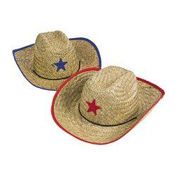 19b057a4abb Childs Straw Cowboy Hat With Plastic Star (1 DOZEN) - BULK for only  13.66