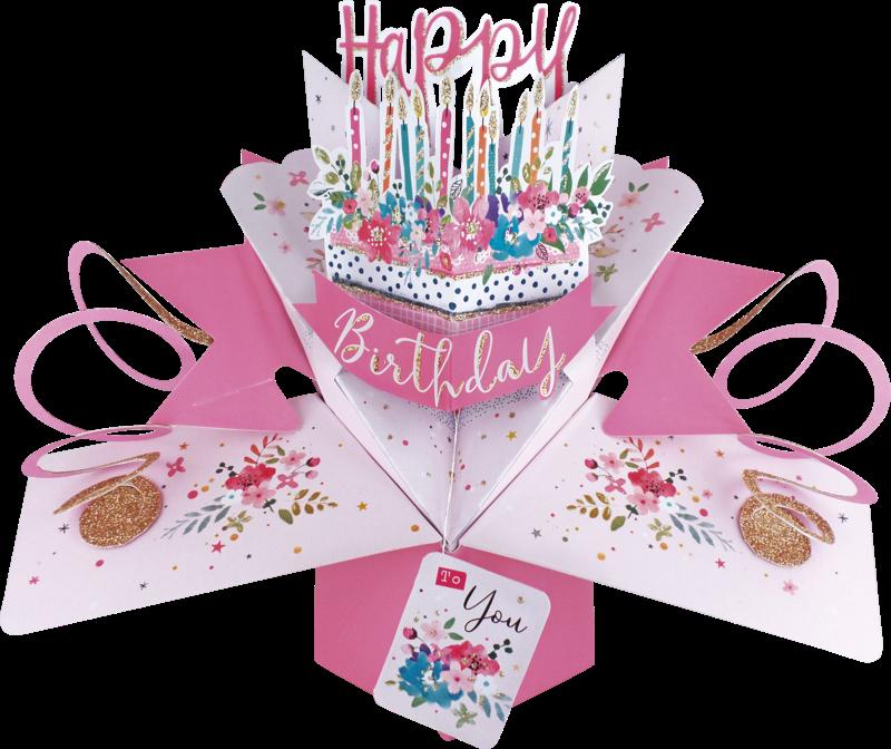 second nature pop ups  cake  happy birthday cakes