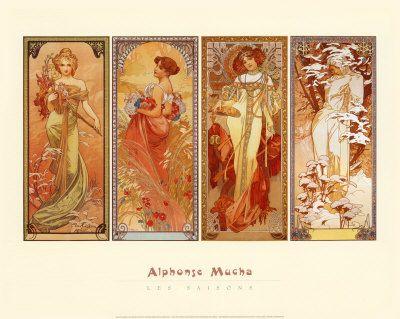 Las Estaciones 1900 Arte Por Alphonse Mucha En Allposters Es Tegninger Grafik Og Malerier