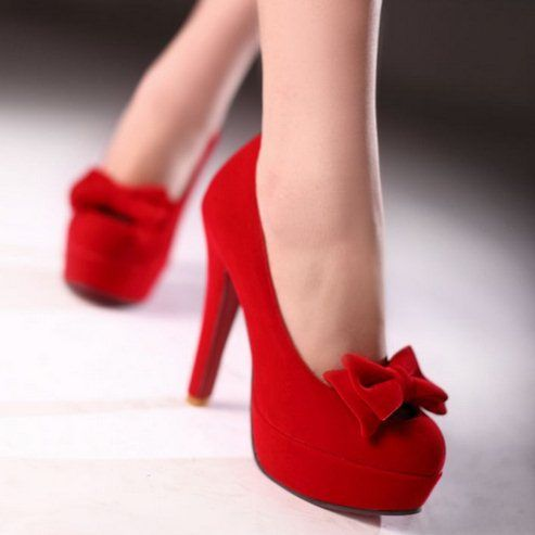2014 Brand New Sexy Red Bottom Sweet Bow Shoes Fashion Spike High ...