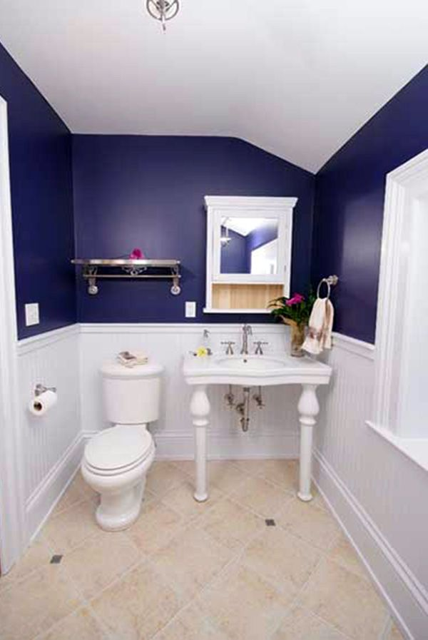 Bathroom Decoration Ideas With Blue And White Blue White