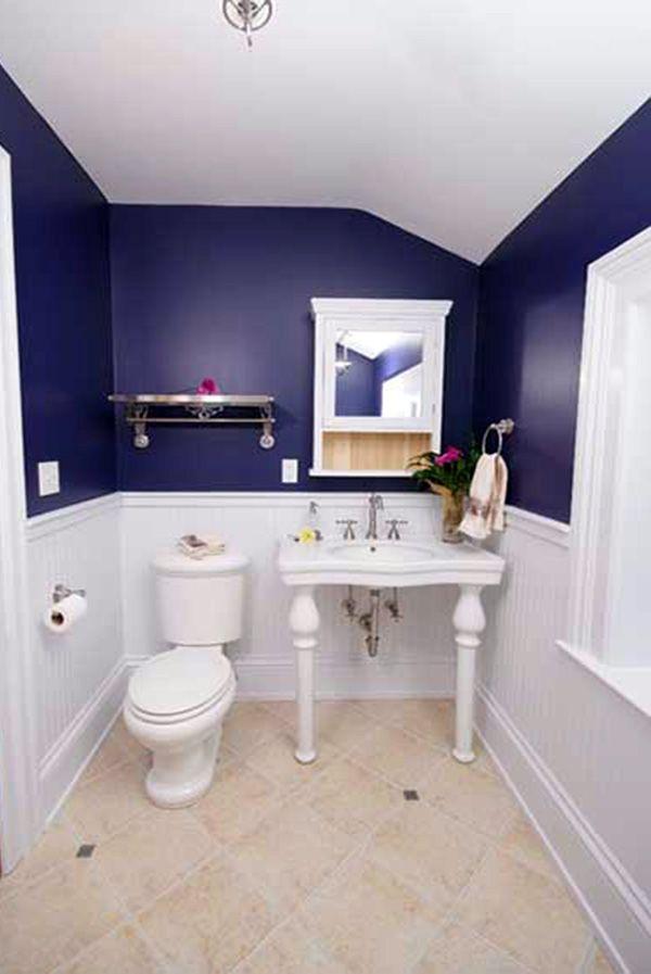Blue White Small Bathroom White Bathroom Decor Bathroom Decor Kid Bathroom Decor