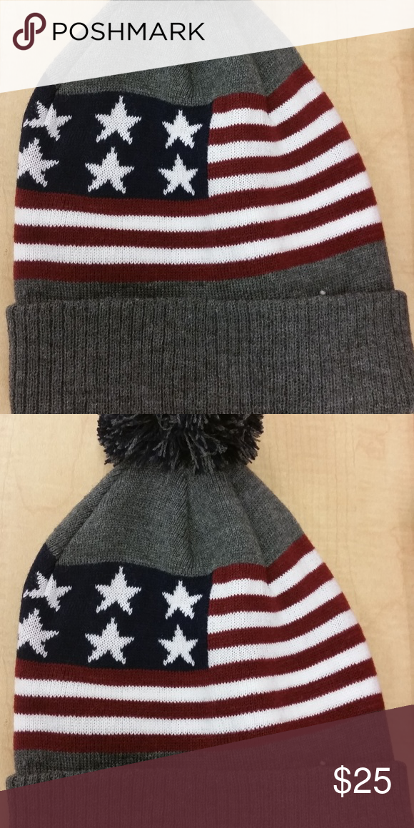 2f90e78fd3767 USA Flag Winter Hat  amp  Gloves Winter Hat  amp  Gloves One Size Fits All