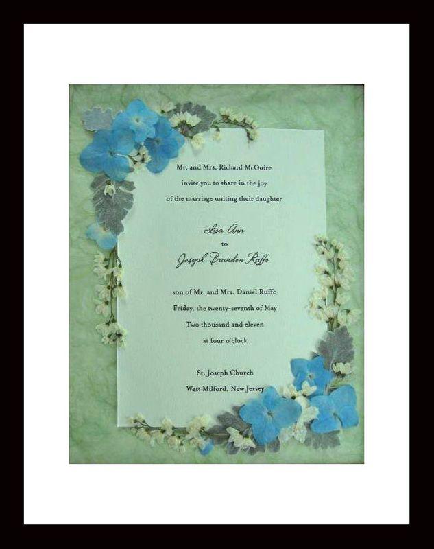 wedding invitations keepsake with pressed flowers Pressed Flora