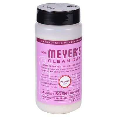 Mrs. Meyer's Clean Day Laundry Scent Booster, Peony, 18oz