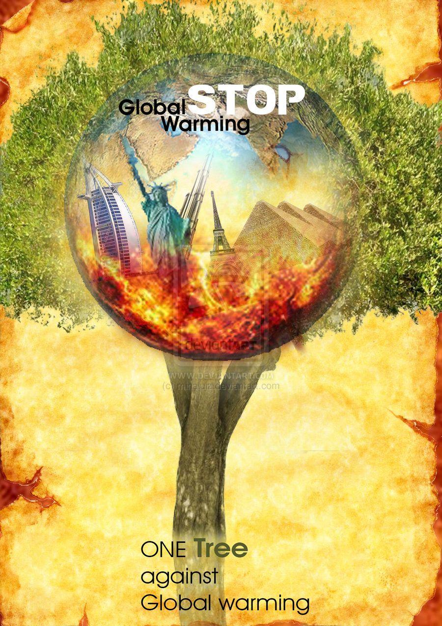 Stop Global Warming Poster Photoshop Global Warming Poster Global Warming Drawing Global Warming Art