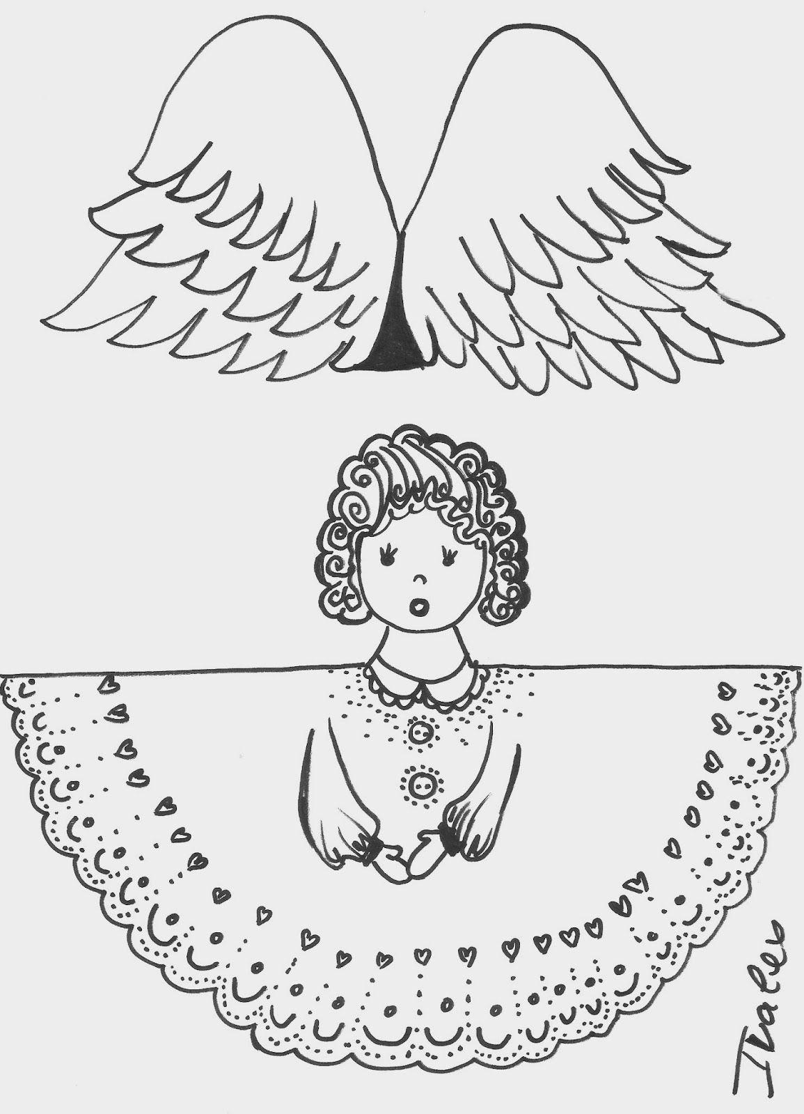 покопалась шаблоны для открыток ангелы состоит фрагментов