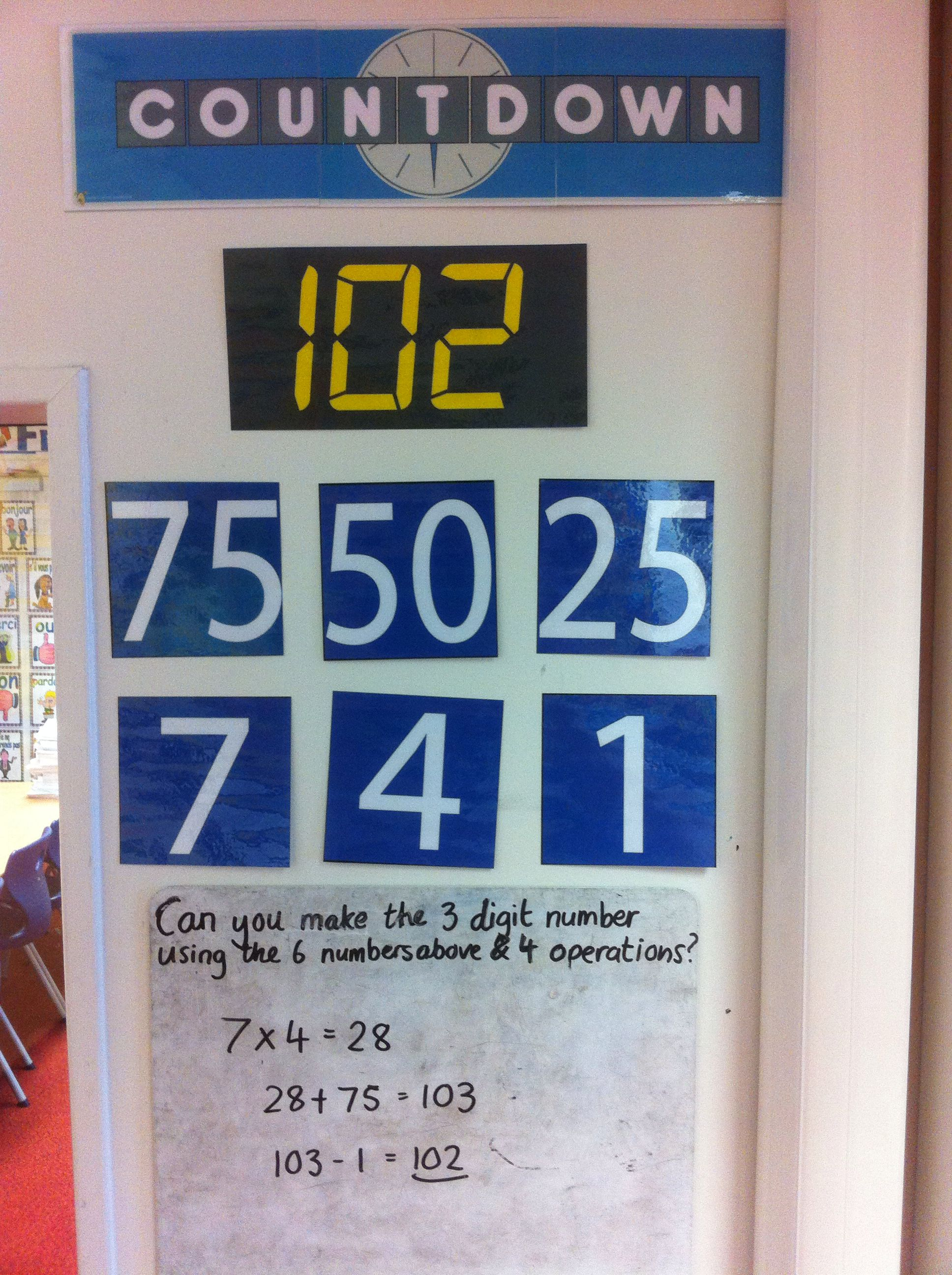 Countdown maths daily challenge | AC Stelle | Pinterest | Math ...
