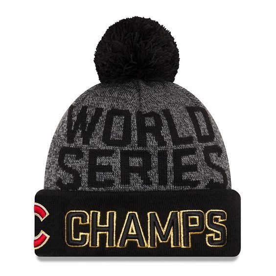 283b558d10f68 Chicago Cubs 2016 World Series Champions Locker Room Beanie by New Era
