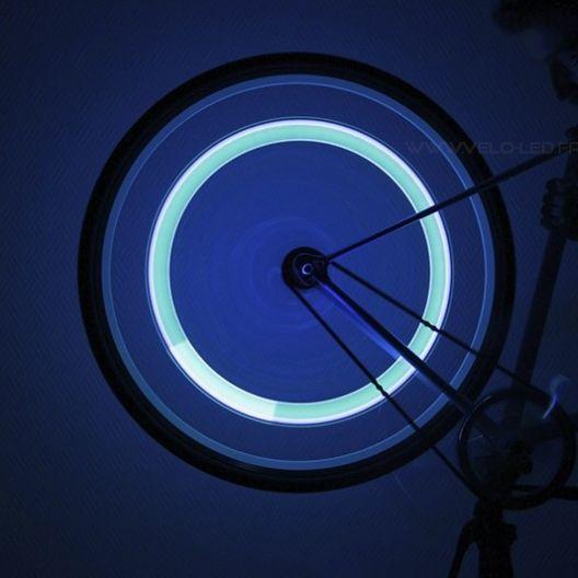 Bouchon de Valve LED Bleu