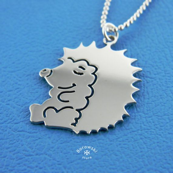 FREE SHIPPING Hedgehog necklace Hedgehog Jewelry от BorowskiStore