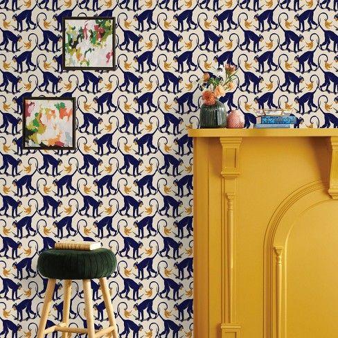 Monkey Wallpaper Target Opalhouse Peel And Stick Wallpaper Monkey Wallpaper