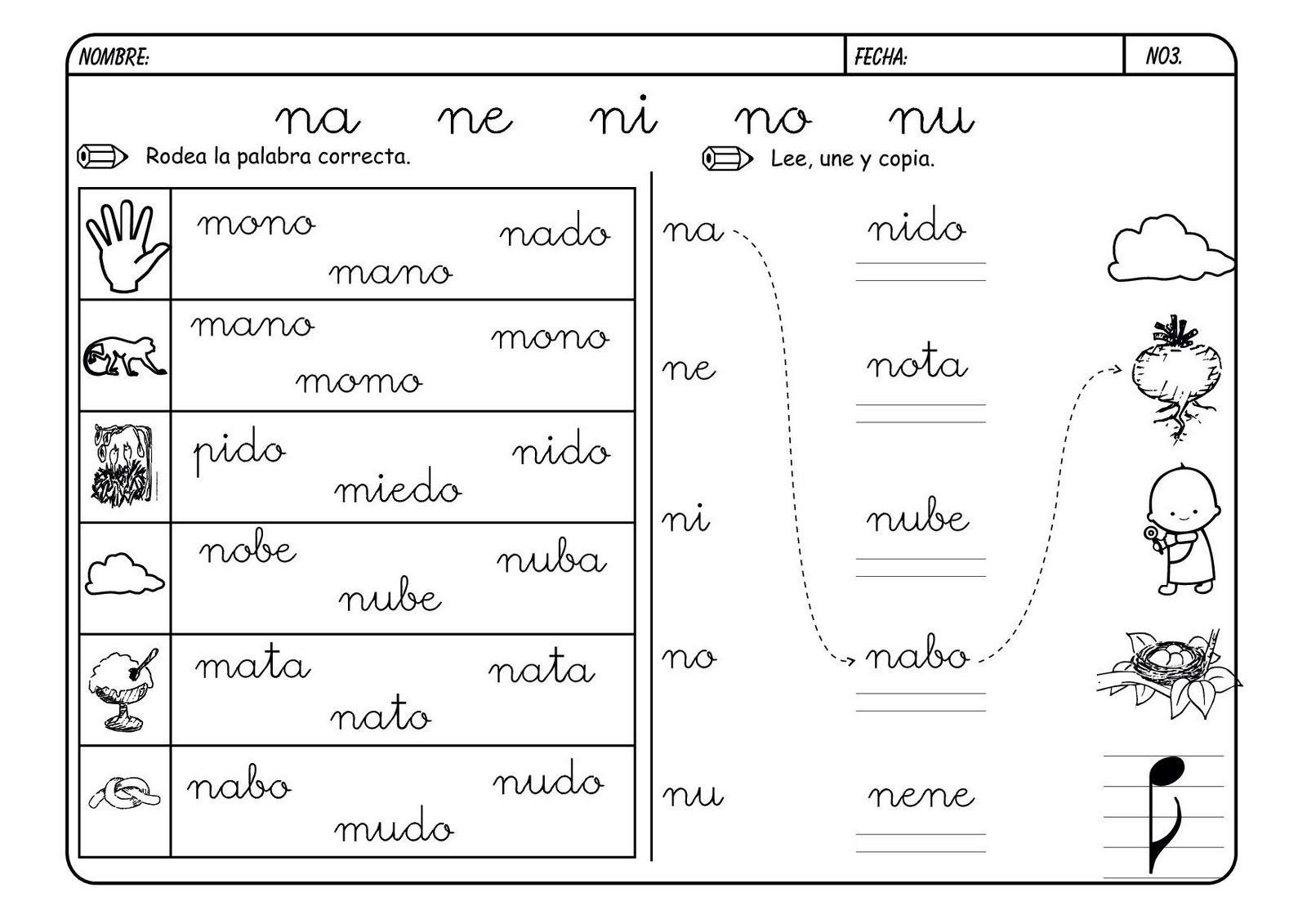 Lectoescritura Con La Letra N Letra N Actividades Actividades De Letras Lectoescritura