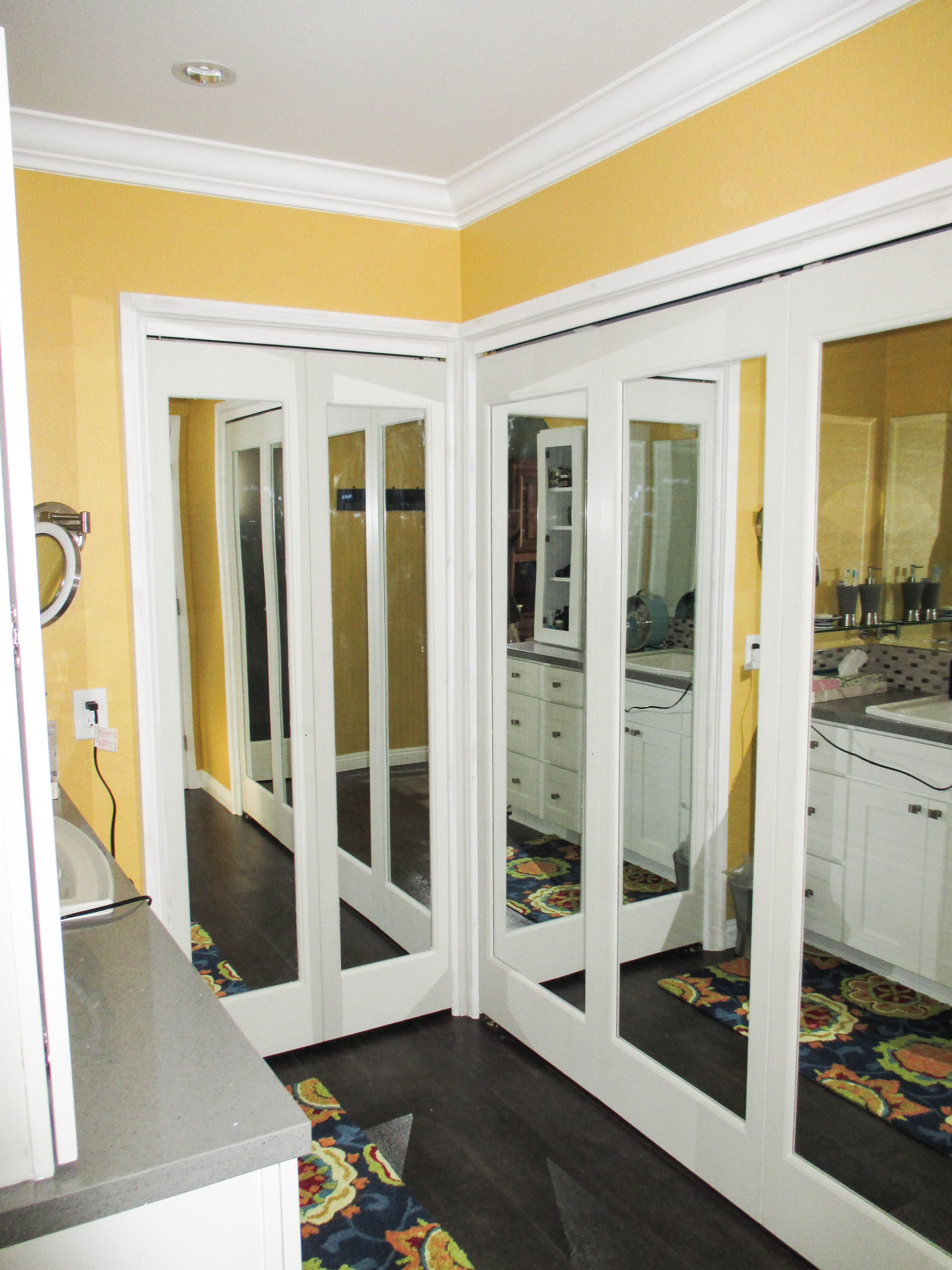 Check Out These Bi Folding Ovation Closet Doors With Mirrors That