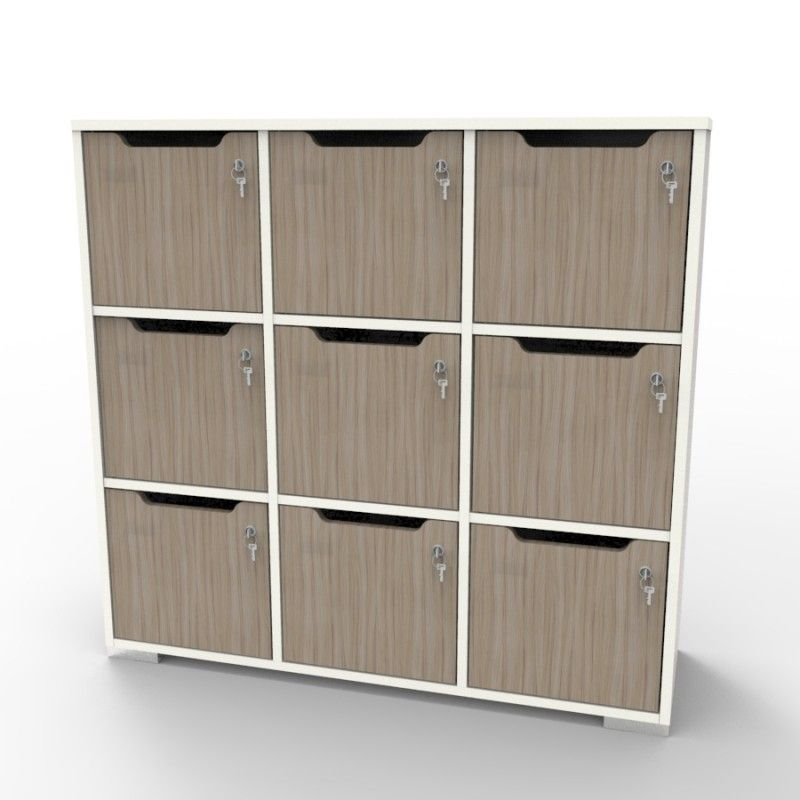 Meuble Casier En Bois Caseo9 A 9 Cases Blanc Driftwood Casier Bois Meuble Casier Casier Vestiaire