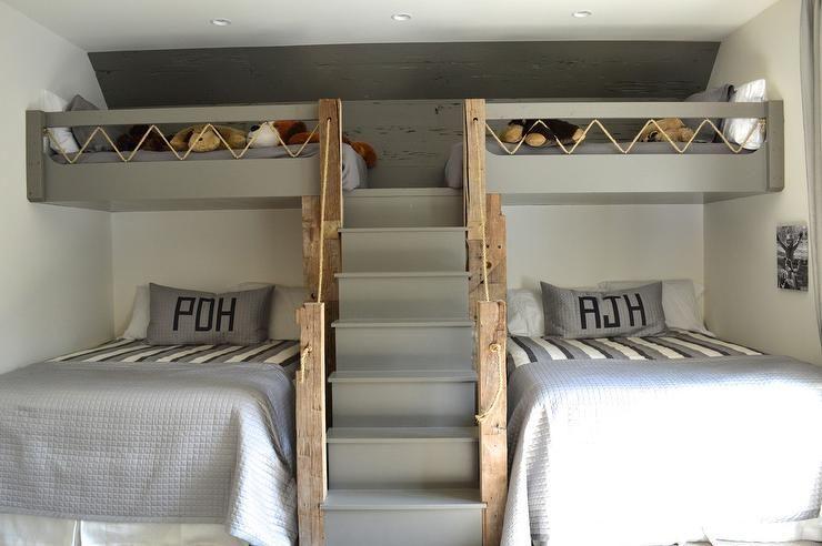 Fun Cottage Boys Bedroom Bunk Beds Built In Bunk Bed Designs