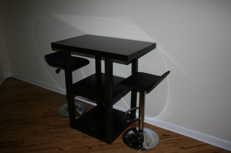 ikea hack lack bistro table so cute i already have to two black lacks - Ikea Bar Table Hack
