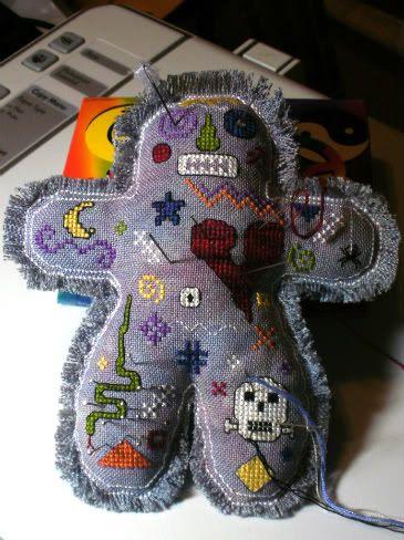 Voodoo Boy cross stitch  Stitched by Deb, found on 123