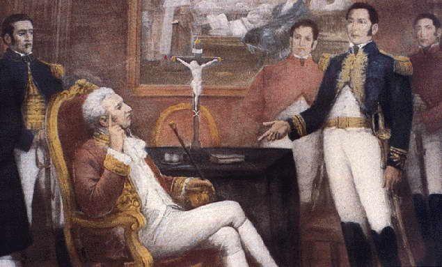 Conferencia de Punchauca, San Martín y Virrey La Serna | Art, Painting