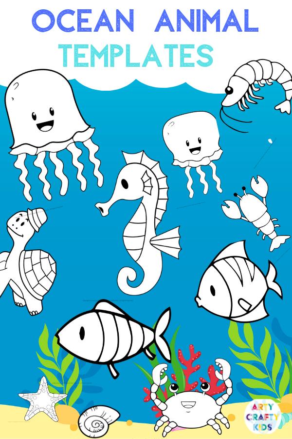 Ocean Animal Watercolor Painting for Kids Ocean art