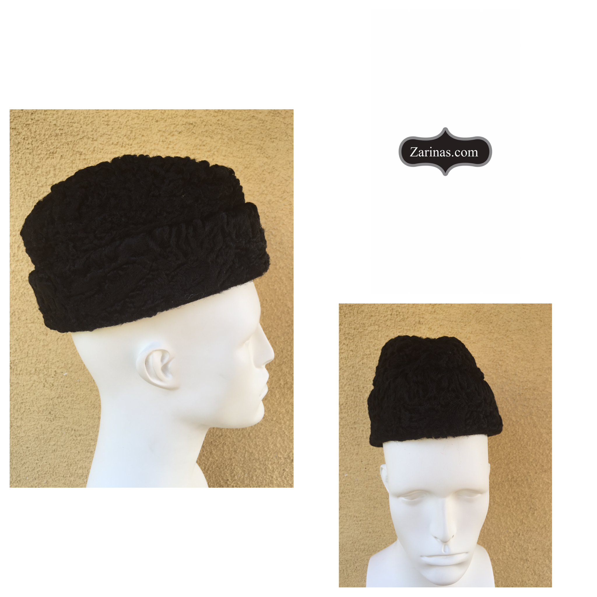 369880b38d4 Persian Lamb Ambassador Hat (also know as wool fur hat or Envoy hat).
