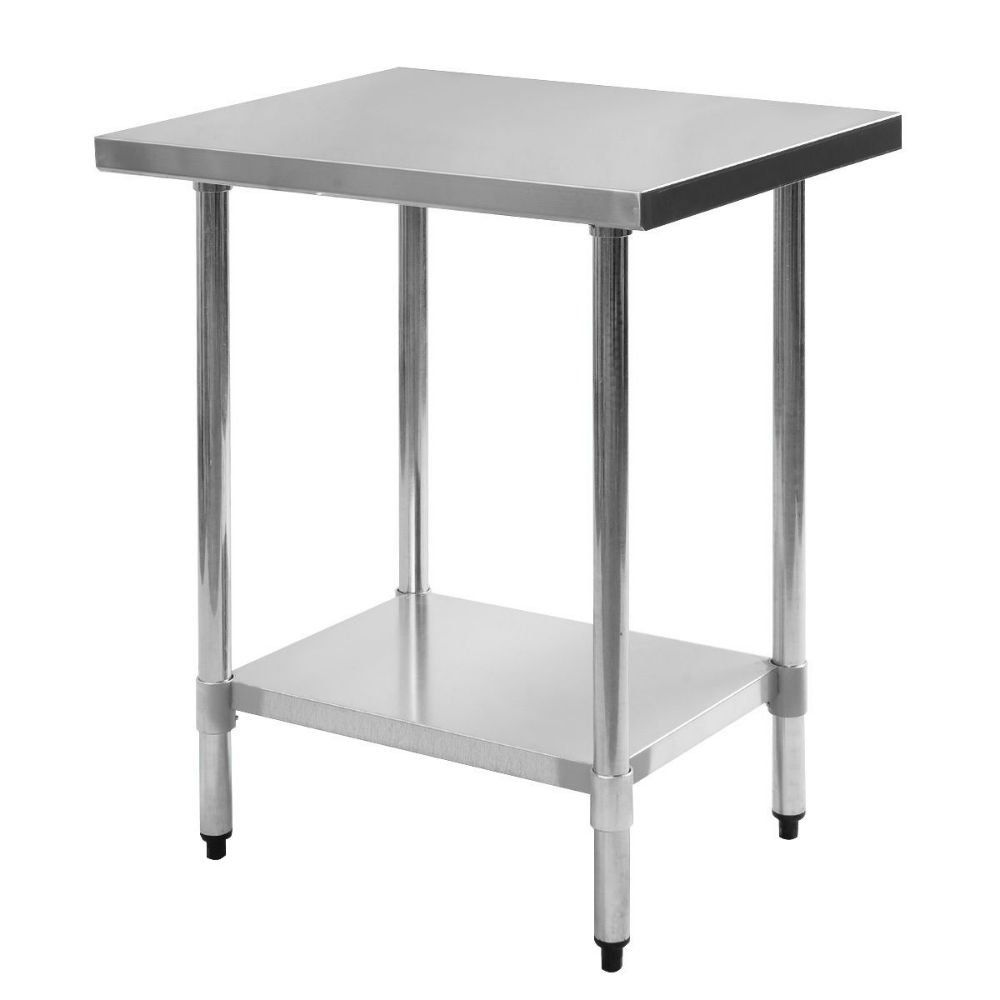 Stainless Restaurant Table 24 X 30 Stainless Steel Work Prep Table With Backsplash Kitchen