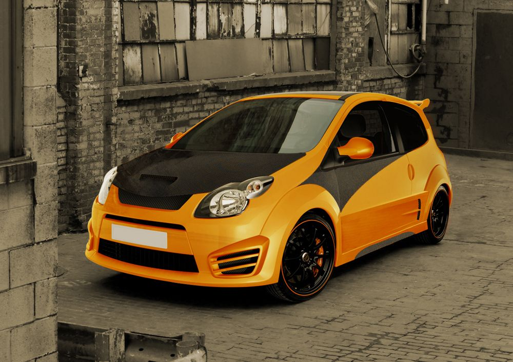 Renault twingo orange pinterest car covers and cars for Garage renault bouc bel air