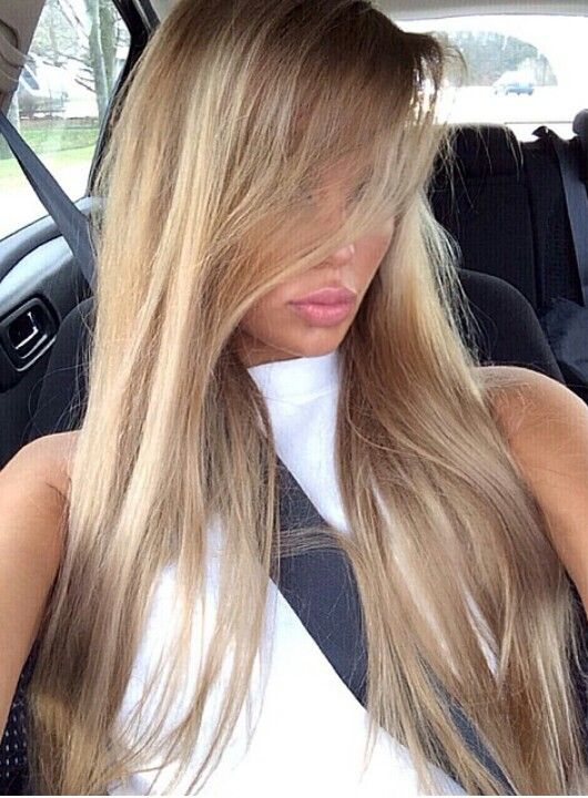 Swedish Blogger Ines Helene Beautiful Hair Golden Beige