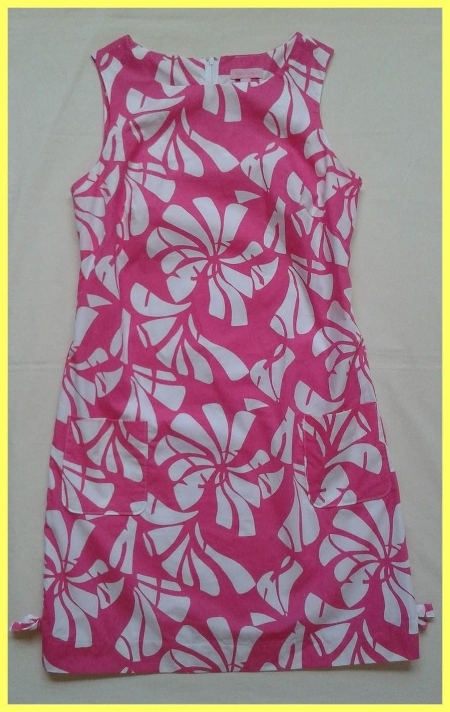 6a302eed005 Free shipping and guaranteed authenticity on Lilly Pulitzer Pink / White  Floral Print Cotton Worth Shift Dress at Tradesy.