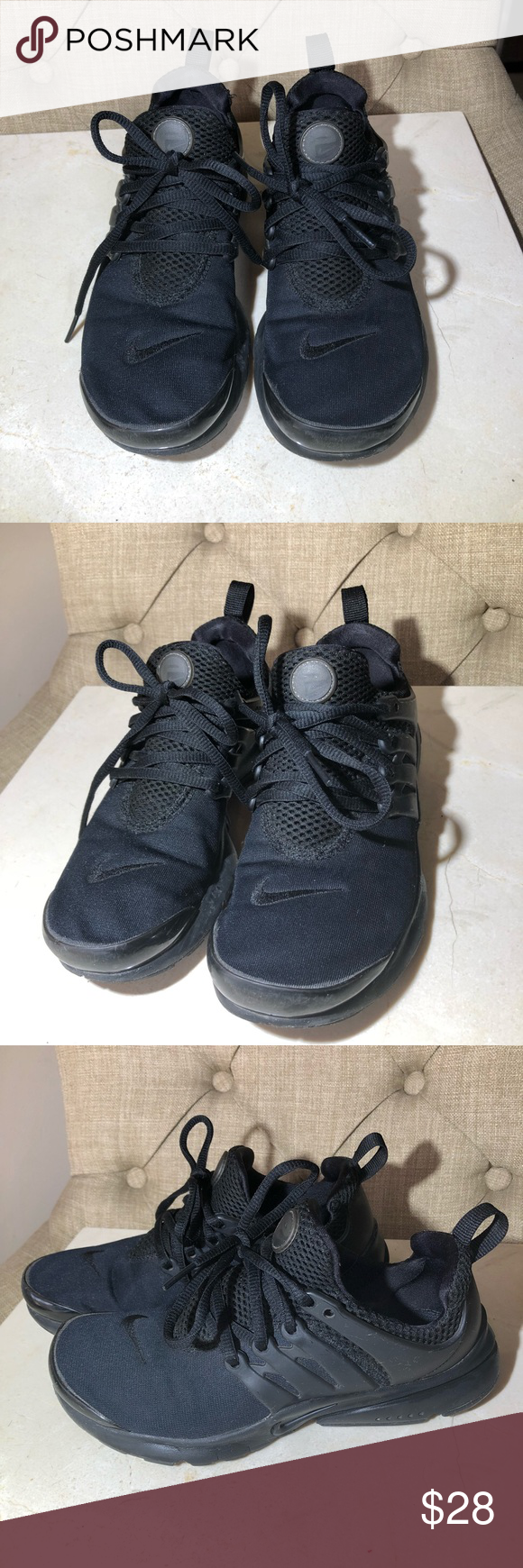 meet 9aff8 a0515 NIKE Presto BLACK✨ All black Nike presto. Minor scratches on tip of shoes  gently used. Super cute! Perfect for the gym or an athletic outfit ✨ Nike  Shoes ...