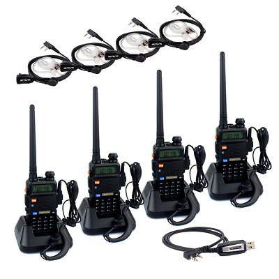 5 sets Retevis RT5 Walkie-Talkie VOX VHF+UHF 128CH 8W//5W//1W 1750Hz 2-Way Radio