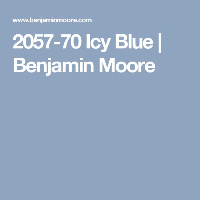 2057 70 Icy Blue Benjamin Moore