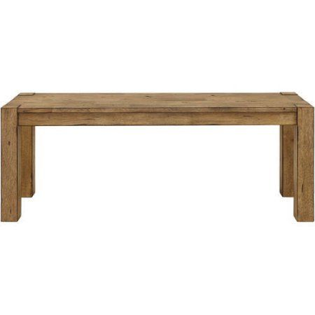 Better Homes And Gardens Bryant Dining Bench Rustic Brown