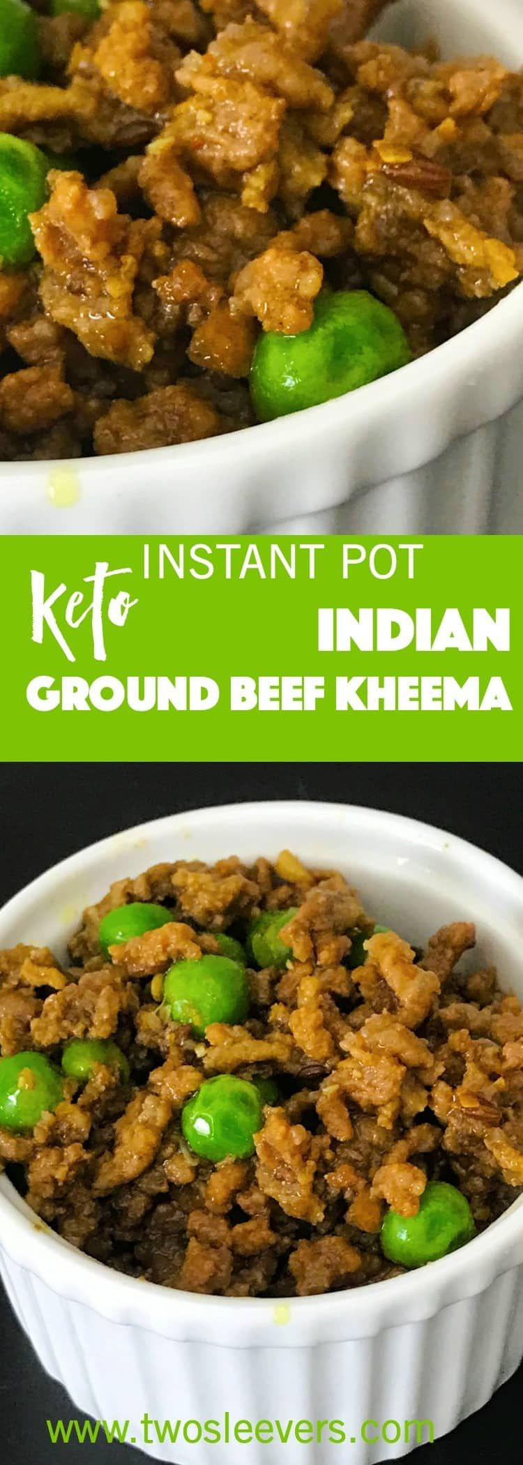 This Instant Pot Keto Indian Kheema recipe is an easy family-friendly keto dish that's gluten-free, keto, paleo and done in under 30 minutes. via @twosleevers