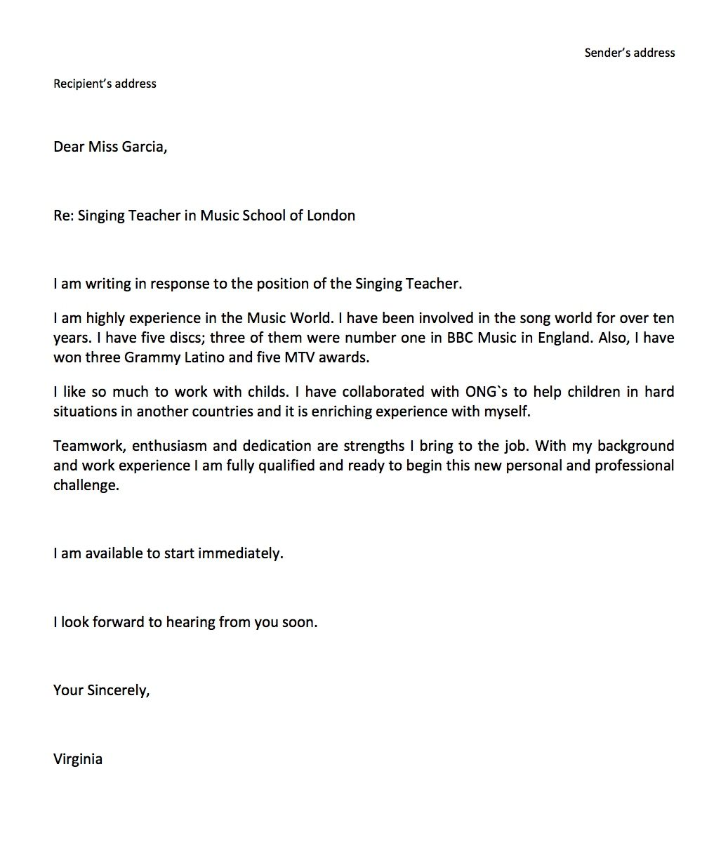 Cover Letter Template For High School Students | 2-Cover ...