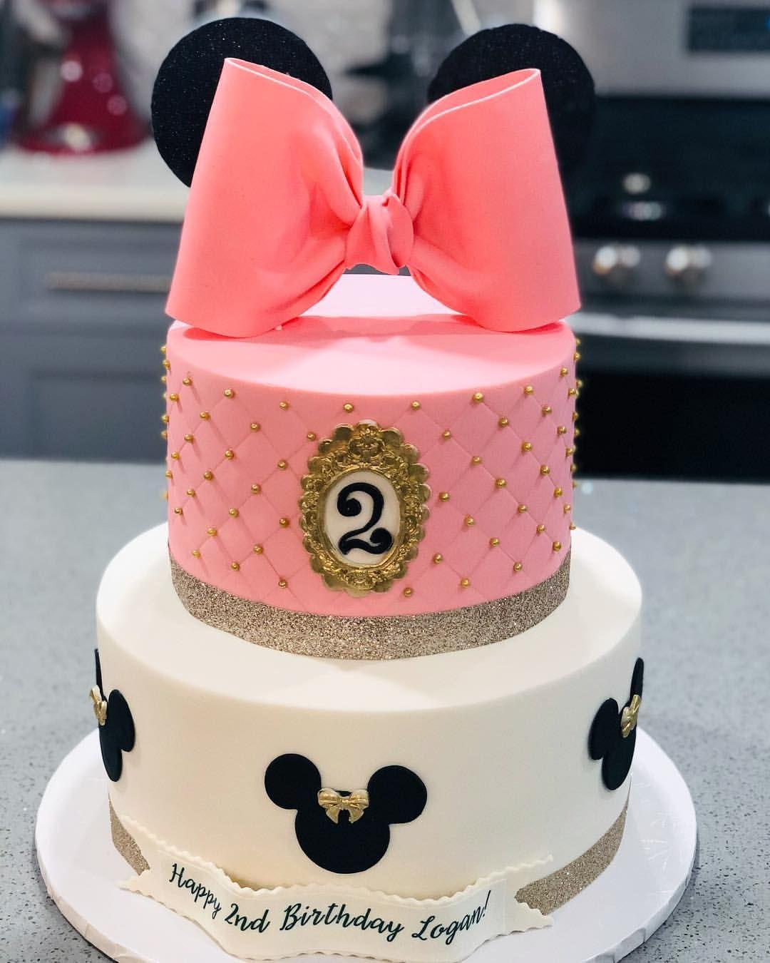 Plush Printed Dress Minnie Mouse Birthday Cakes Minnie Mouse Cake Design Minnie Mouse Birthday Party