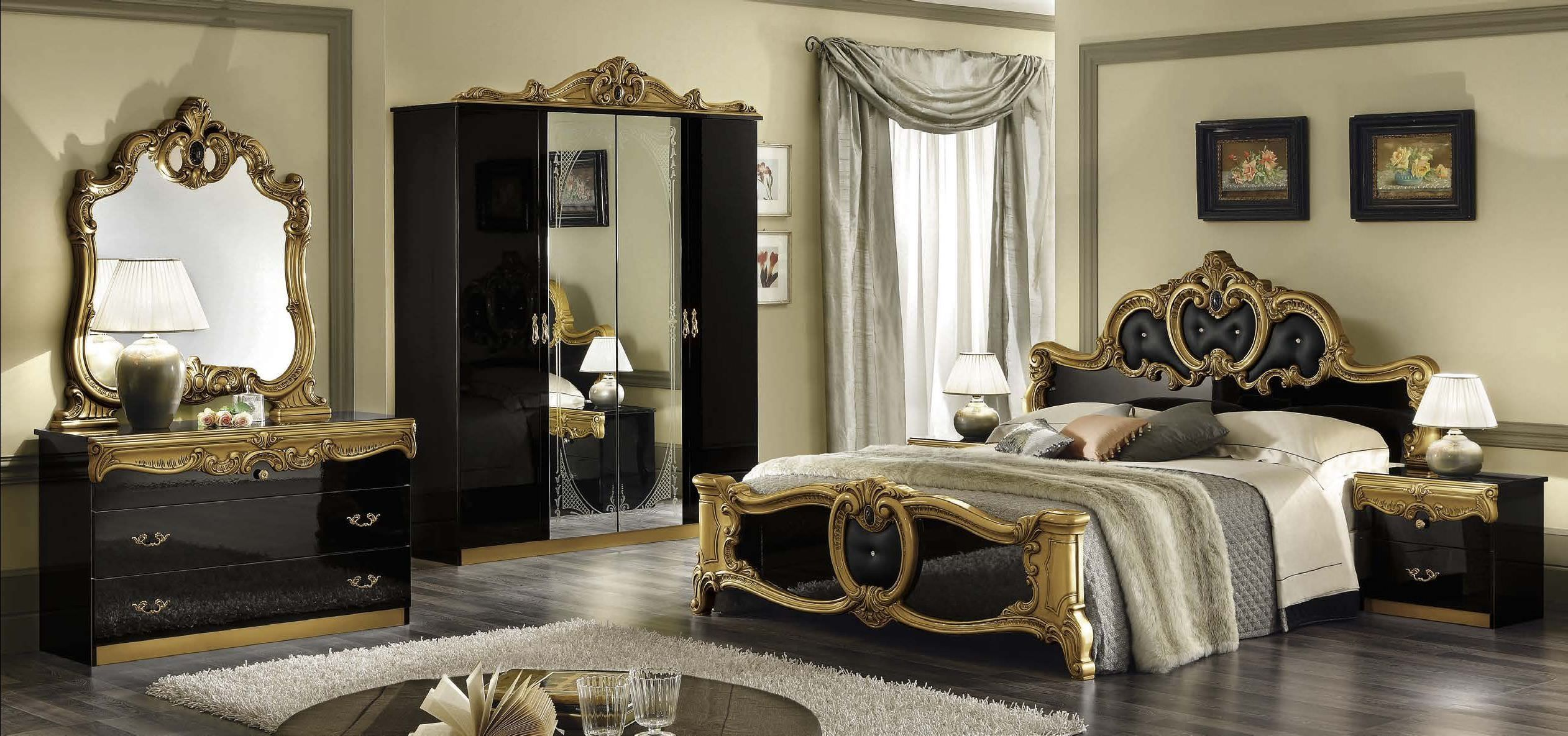 Decoration Marvelous Black And Gold Bedroom