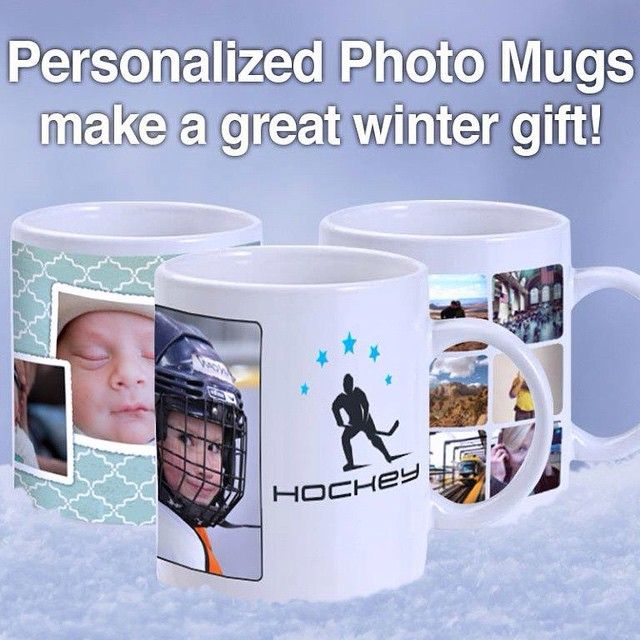 Help them keep warm this winter with a personalized photo mug! #mug #photo #photography #picture #fotosource #warm #winter