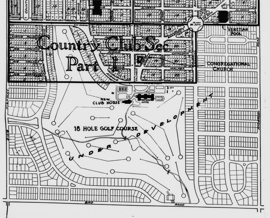 Coral Gables Florida Map.Pin By Nathan On From The Past Pinterest Coral Gables Florida