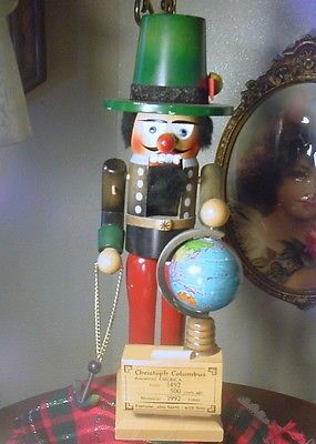 "Steinbach Nutcracker Christopher Columbus  16"" German Made Previously Owned"
