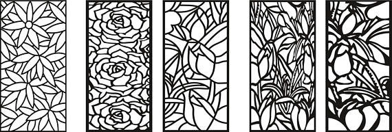 150 Wall Panels Screen Decoratives CNC Laser cdr dxf svg dwg