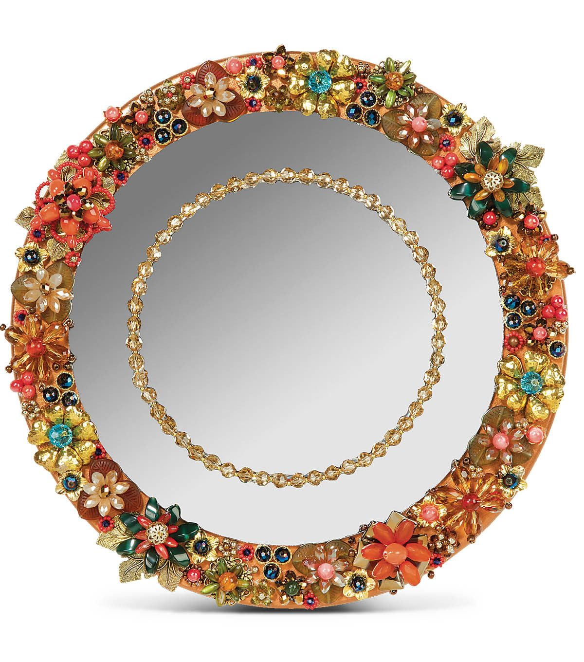 love this #diy jeweled mirror! would make beautiful wall decor in