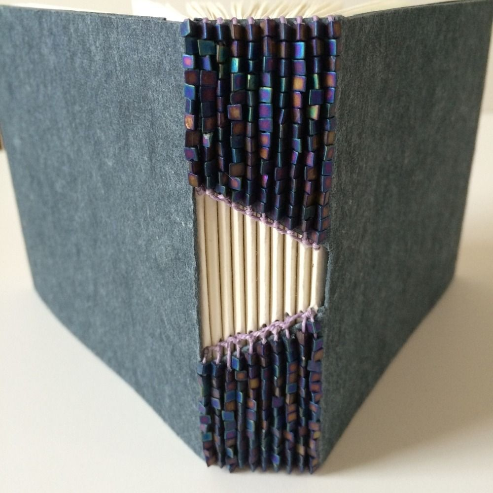 The Art Of Bookbinding Buttonhole Binded Books By Bari Zaki Book Binding Diy Bookbinding Bookbinding Tutorial