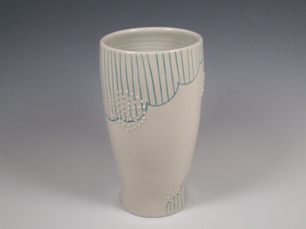Deco Tumbler by The Celedon Studio. American Made. See the designer's work at the 2016 American Made Show, Washington DC. January 15-17, 2016. americanmadeshow.com #americanmadeshow, #americanmade, #ceramic, #pottery, #tumbler, #cup