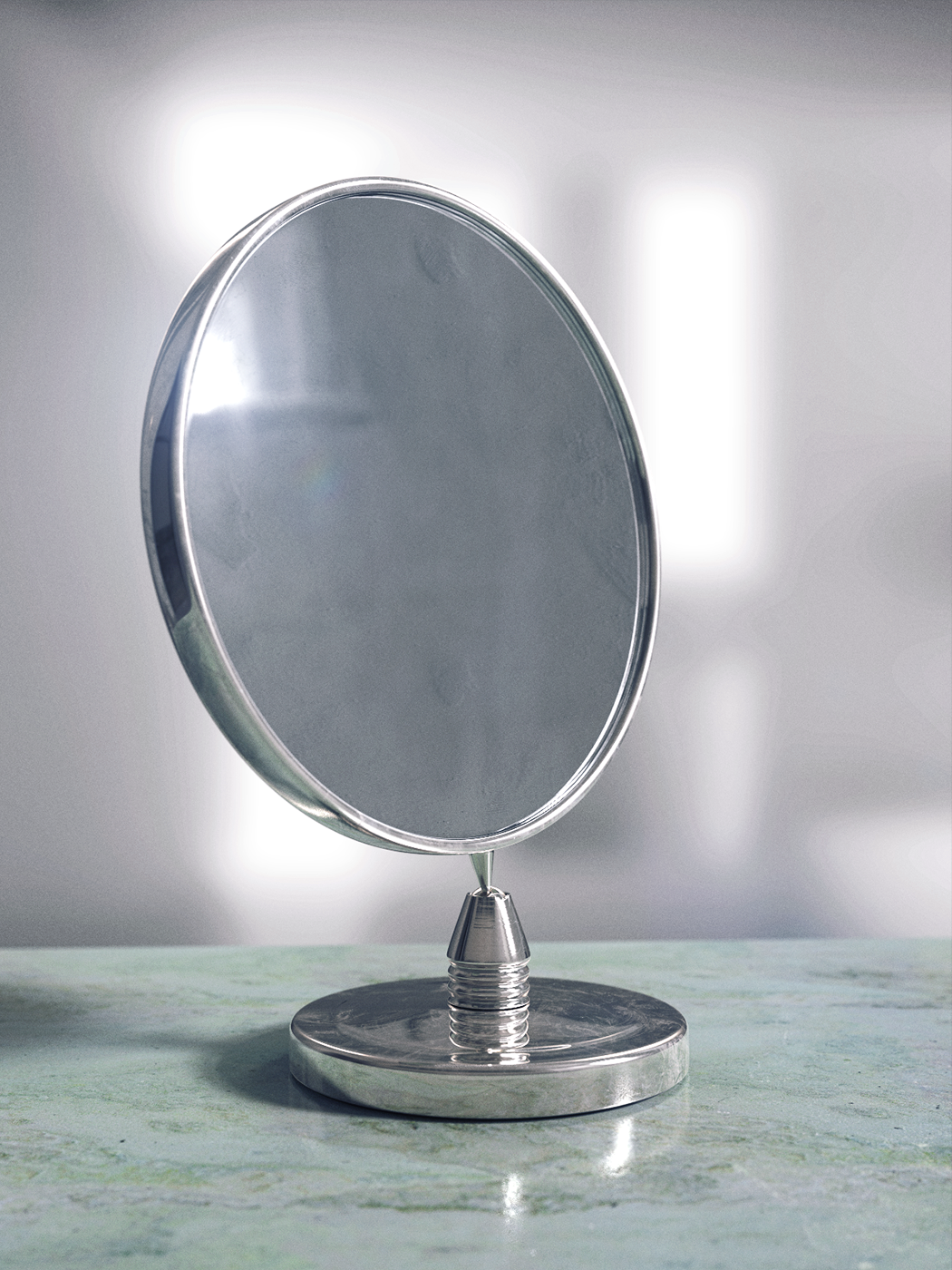 Countertop Mirror Modeled In Modo Rendered In Keyshot By