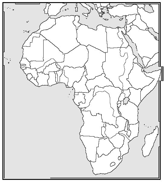 Pin by Kristen Pritts on CC Cycle 1 | Africa map, Map ...