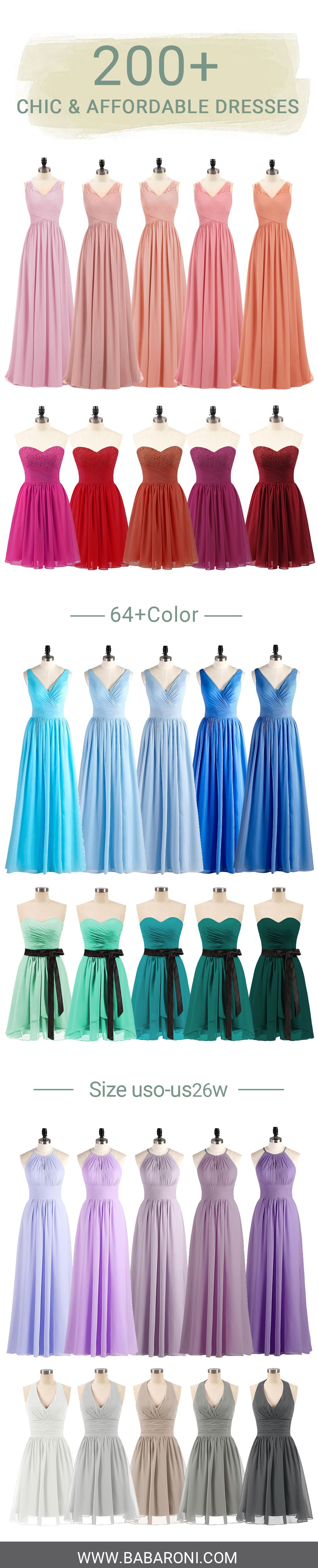 Bridesmaid dresses in babaroni collection pinterest