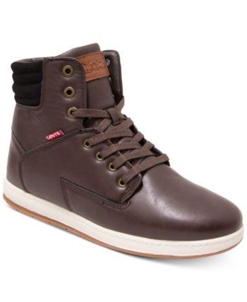 2f9402c711280 Levi's Men's Fletcher Ii Burnish Ii High-Top Sneakers - Brown 7.5 ...