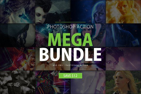 Photoshop Action Mega Bundle by AndriyFM on @Graphicsauthor