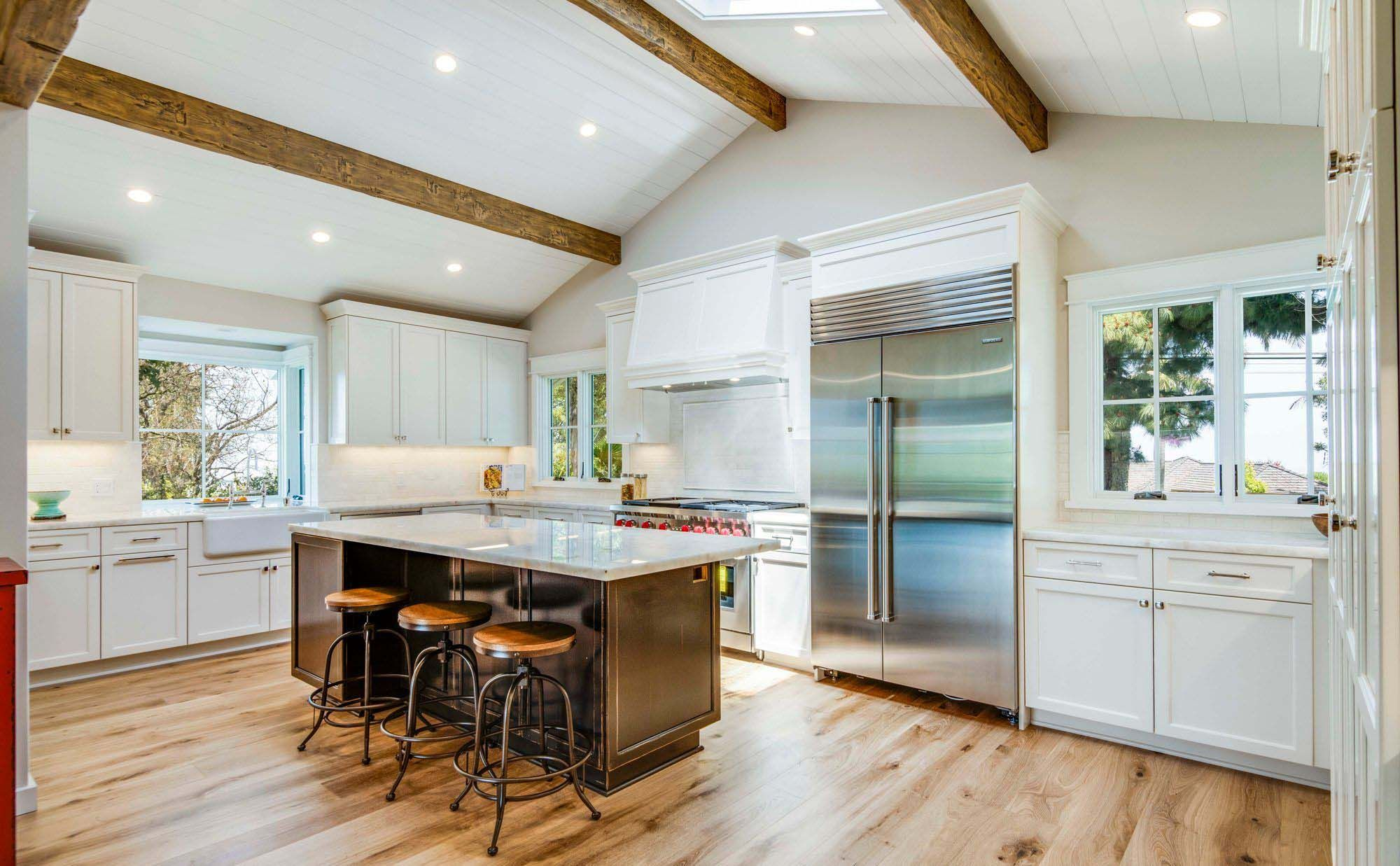 pin on exposed kitchen beams